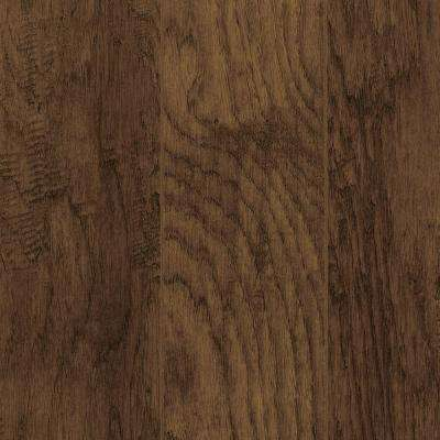 Take home sample hand scraped tanned hickory laminate flooring 5 in x