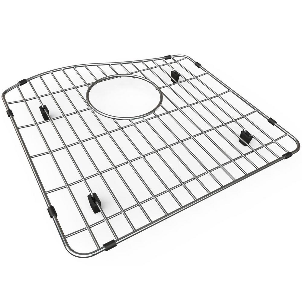 Quartz 15.625 in. x 15.5 in. Bottom Grid for Kitchen Sink in Stainless Steel