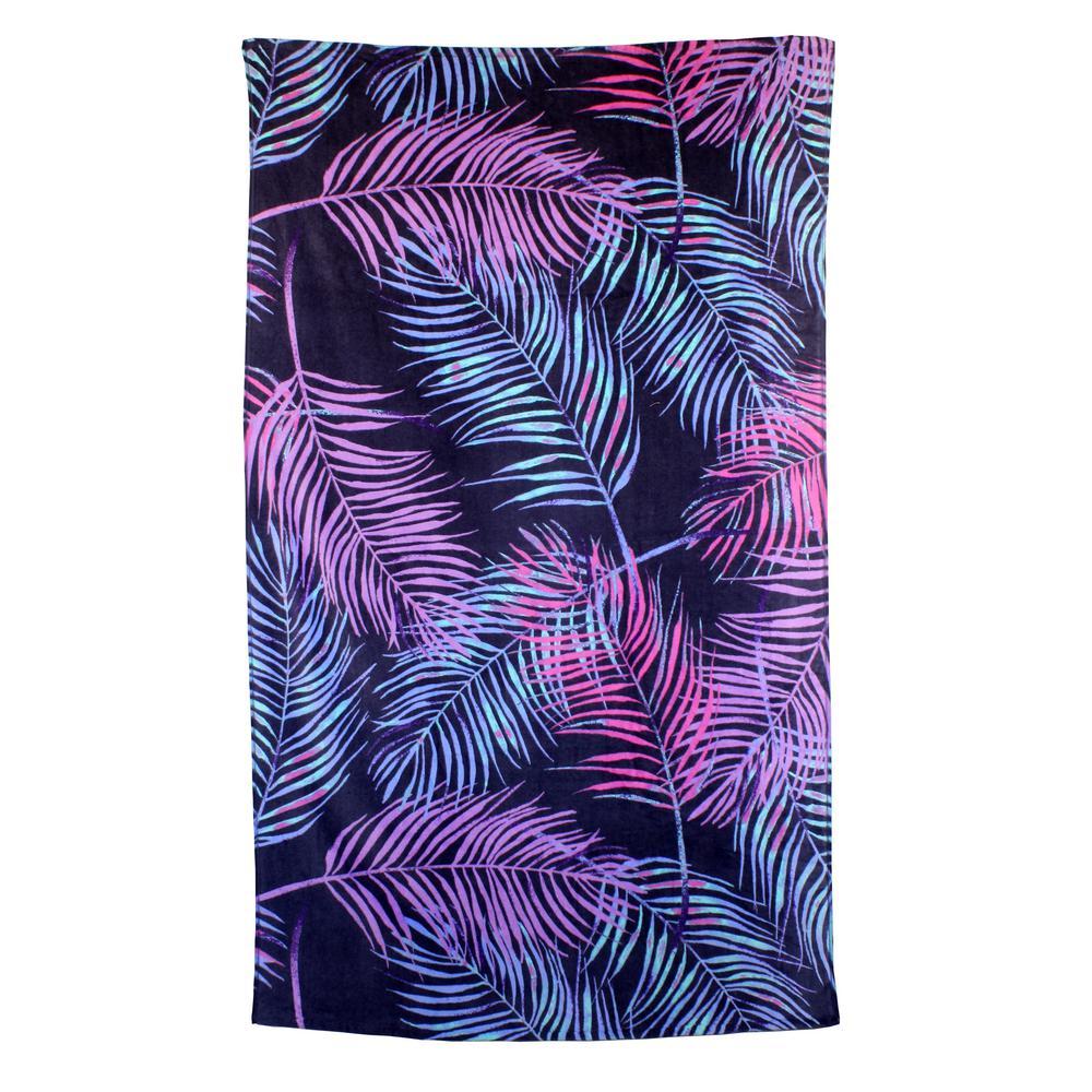 Leaves 100% Cotton Beach Towel Fiber Active Print