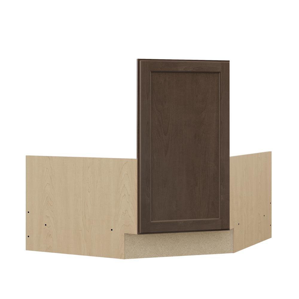 Corner Sink Base Kitchen Cabinet: Hampton Bay Shaker Ready To Assemble 36 X 34.5 X 24 In