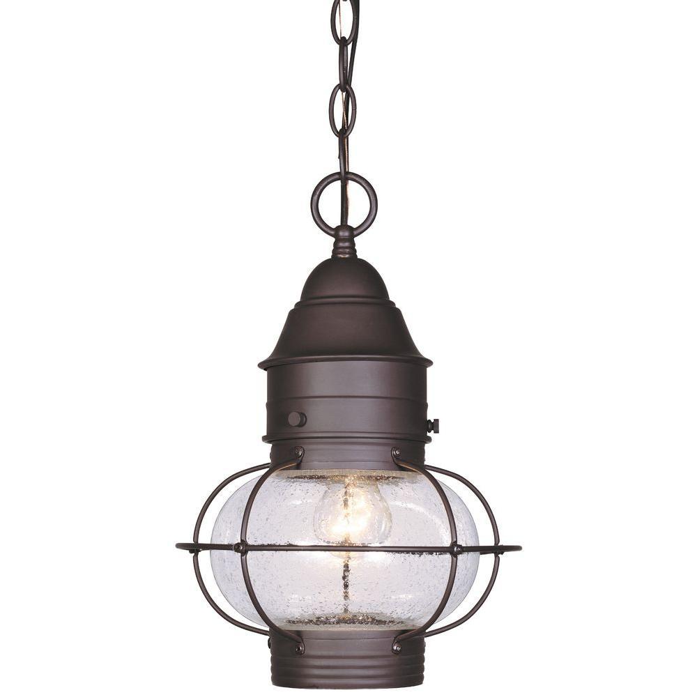 Cordelia Lighting Hanging Outdoor Natural Bronze 10 in. Lantern-DISCONTINUED