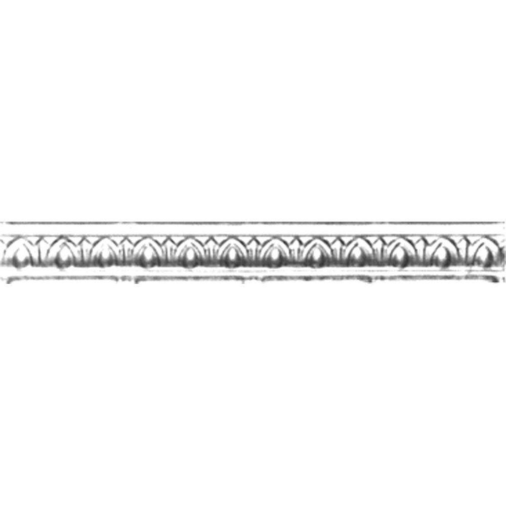 Shanko 2 in. x 4 ft. x 2 in. Brite Chrome Nail-up/Direct ...