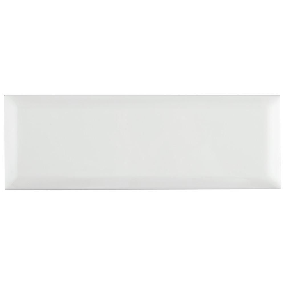 MerolaTile Merola Tile Santorini Loft Blanco 4 in. x 11-7/8 in. Ceramic Subway Wall Tile (12.17 sq. ft. / case), Blanco / High Sheen