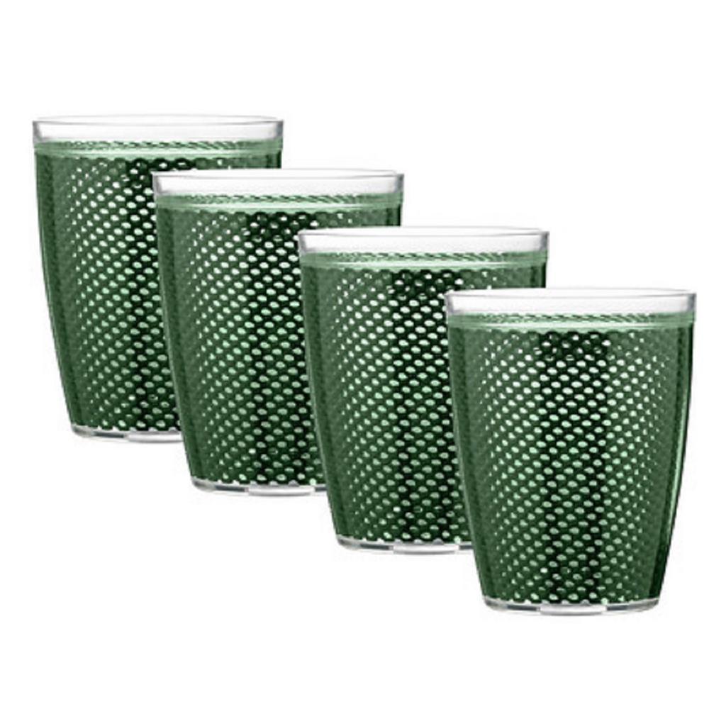 Fishnet 14 oz. Hunter Green Insulated Drinkware (Set of 4)