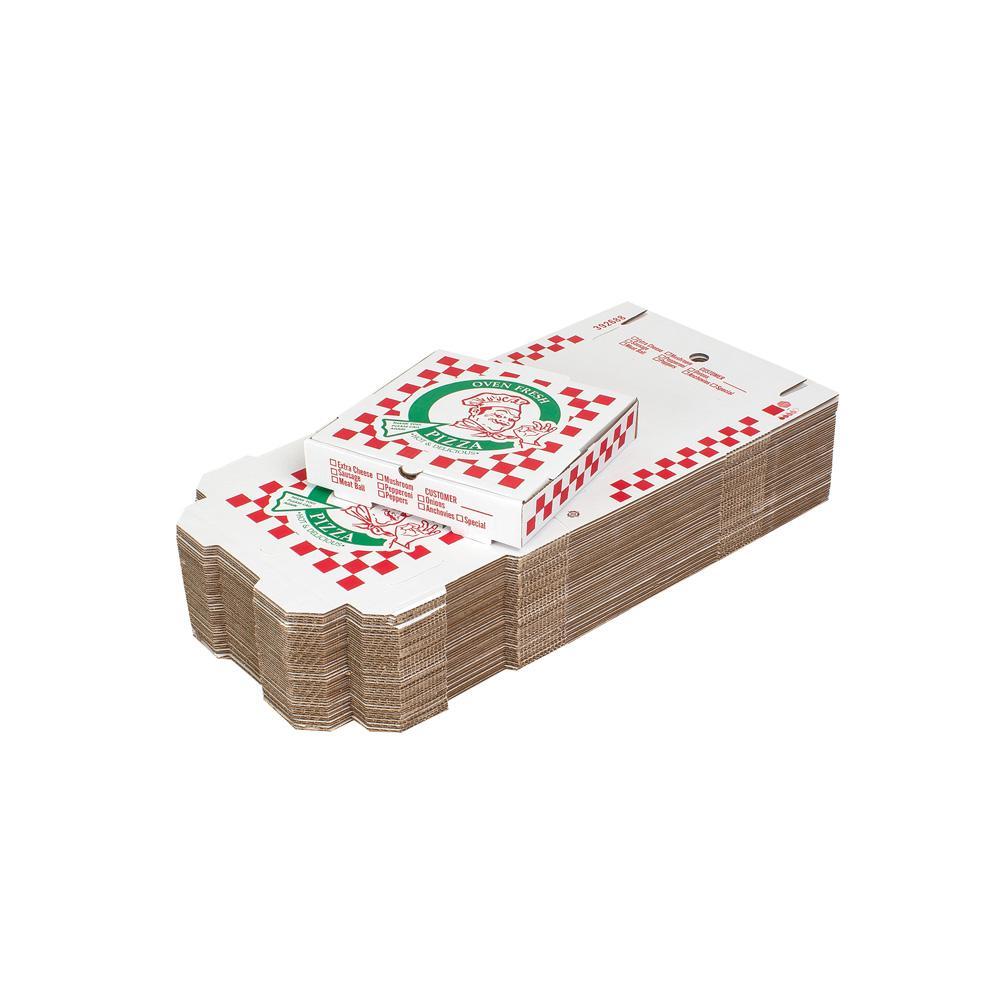 10 in. Pizza Box (10 in. L x 10 in. W x 1 7/8 in. D) (100-Pack)