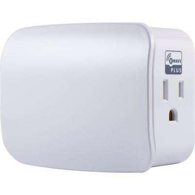 Z-Wave Plus Plug-In Smart Speciality Light Switch Dual Outlet in White