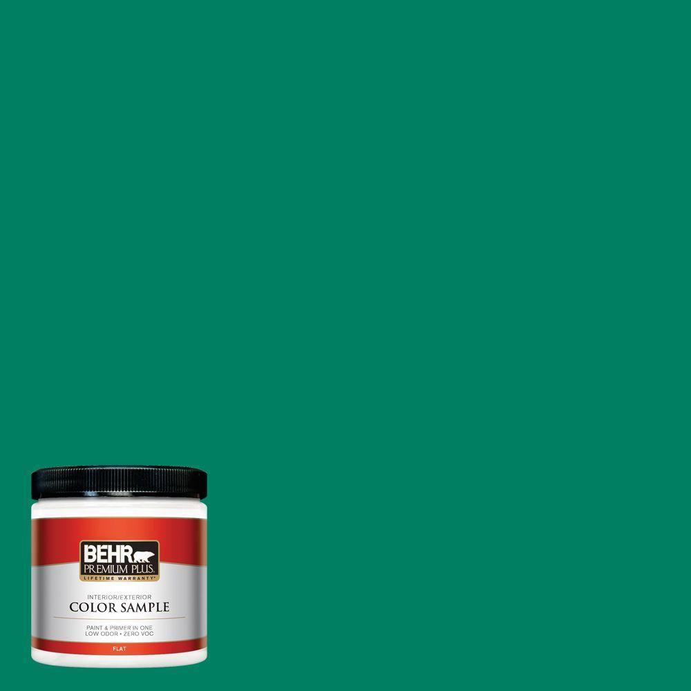 BEHR Premium Plus 8 oz. #480B-6 Treasure Isle Interior/Exterior Paint Sample