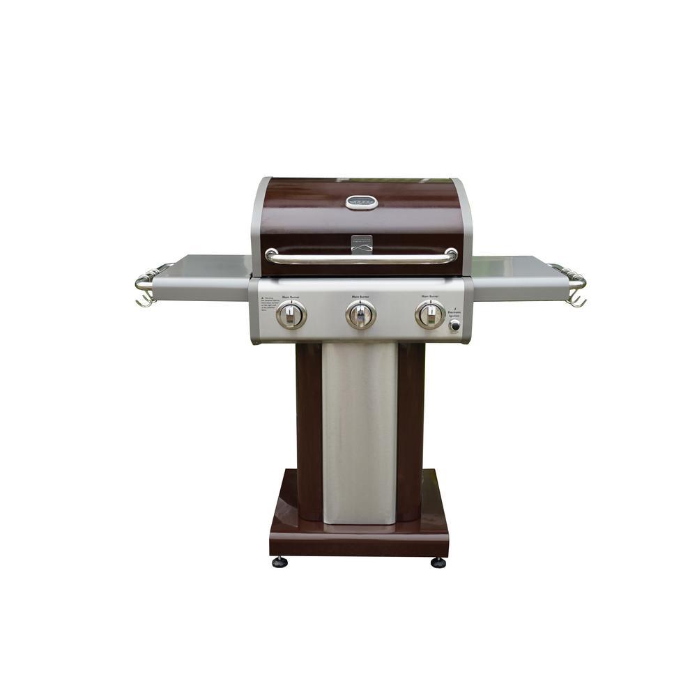 3 Burner Pedestal Grill in Mocha