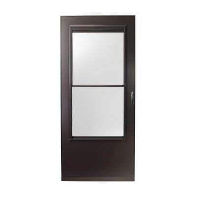 36 in. x 80 in. 200 Series Bronze Self-Storing Storm Door