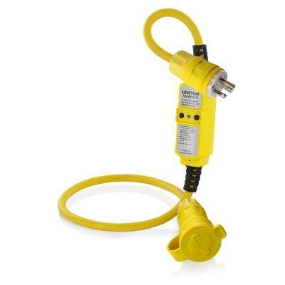 20 Amp Portable GFCI with 3 ft. Heavy Duty Cord Set, Yellow