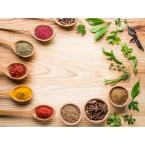 Spices on Wood Foam Placemats (Set of 4)