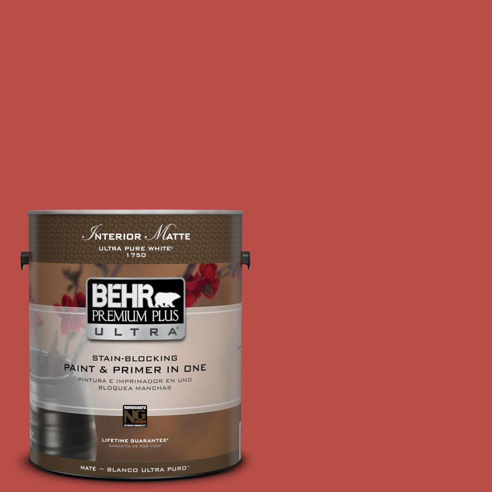 BEHR Premium Plus Ultra Home Decorators Collection 1 gal. #HDC-MD-16 Cherry Red Flat/Matte Interior Paint