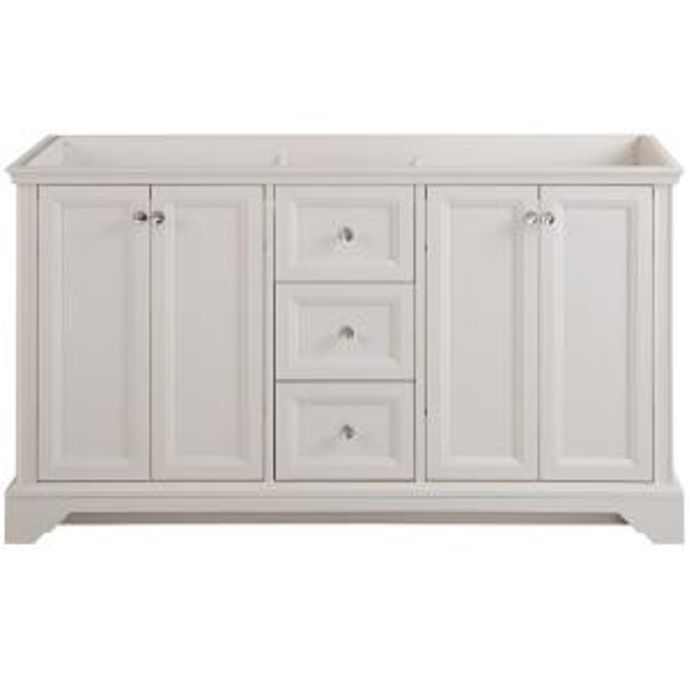 Stratfield 60 in. W x 21.69 in. D x 34.25 in. H Bath Vanity Cabinet Only in Cream