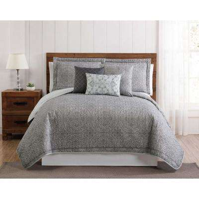 Calista 6 Piece Queen Quilt Set