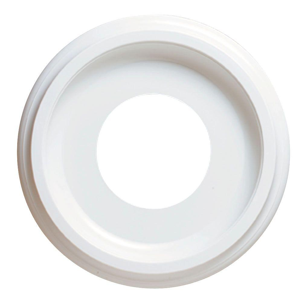 Hampton Bay 10 in White Smooth Ceiling Medallion
