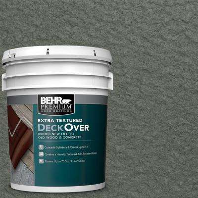 5 gal. #SC-131 Pewter Extra Textured Solid Color Exterior Wood and Concrete Coating