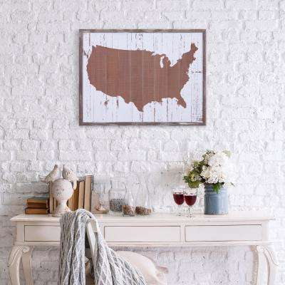 United States Planked Wooden Wall Art