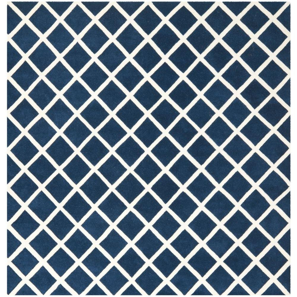 Chatham Dark Blue/Ivory 7 ft. x 7 ft. Square Area Rug