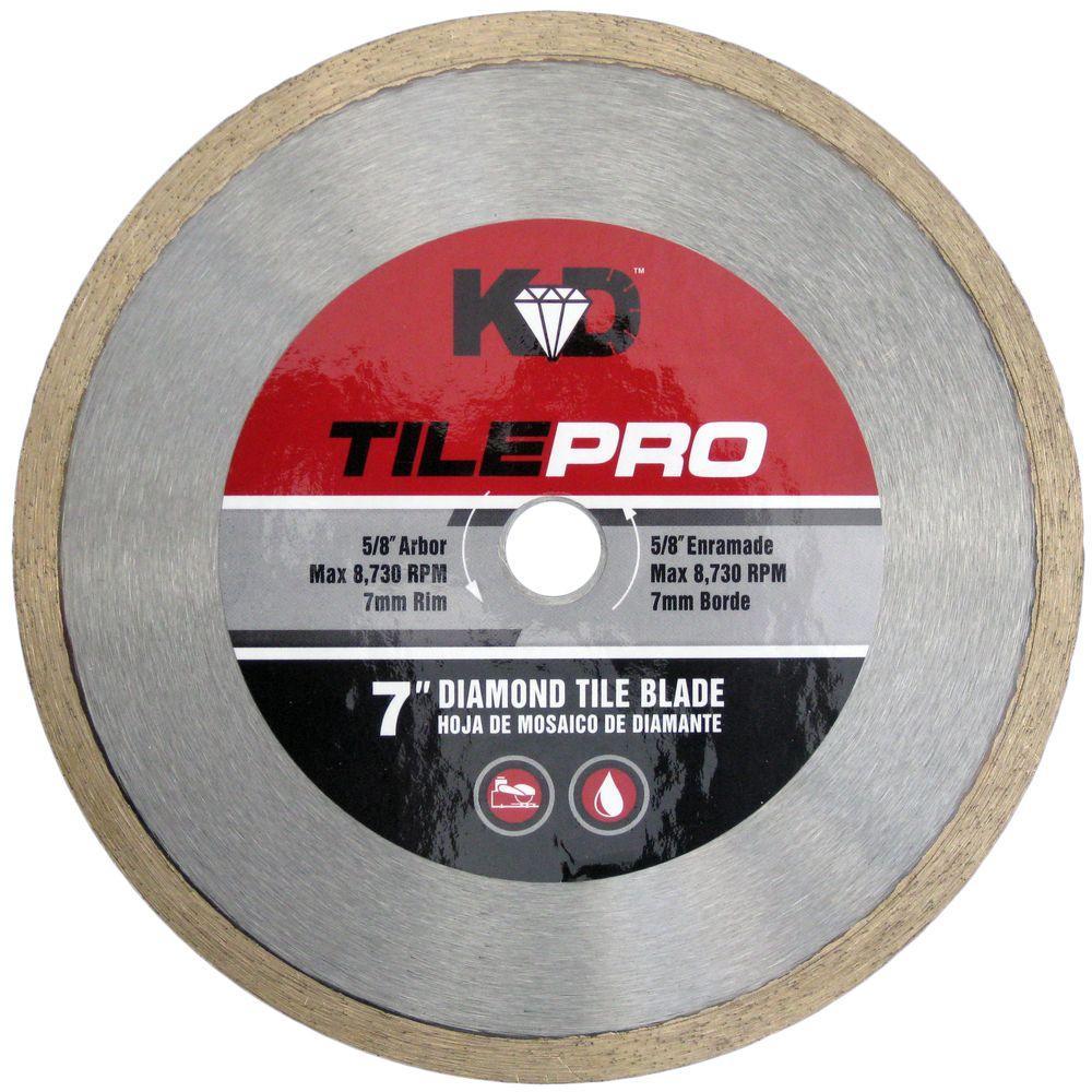 7 in. Diamond Tile Circular Saw Blade