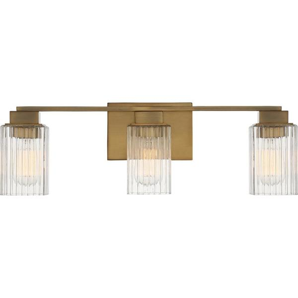 Danson 3-Light Weathered Brass Vanity Light