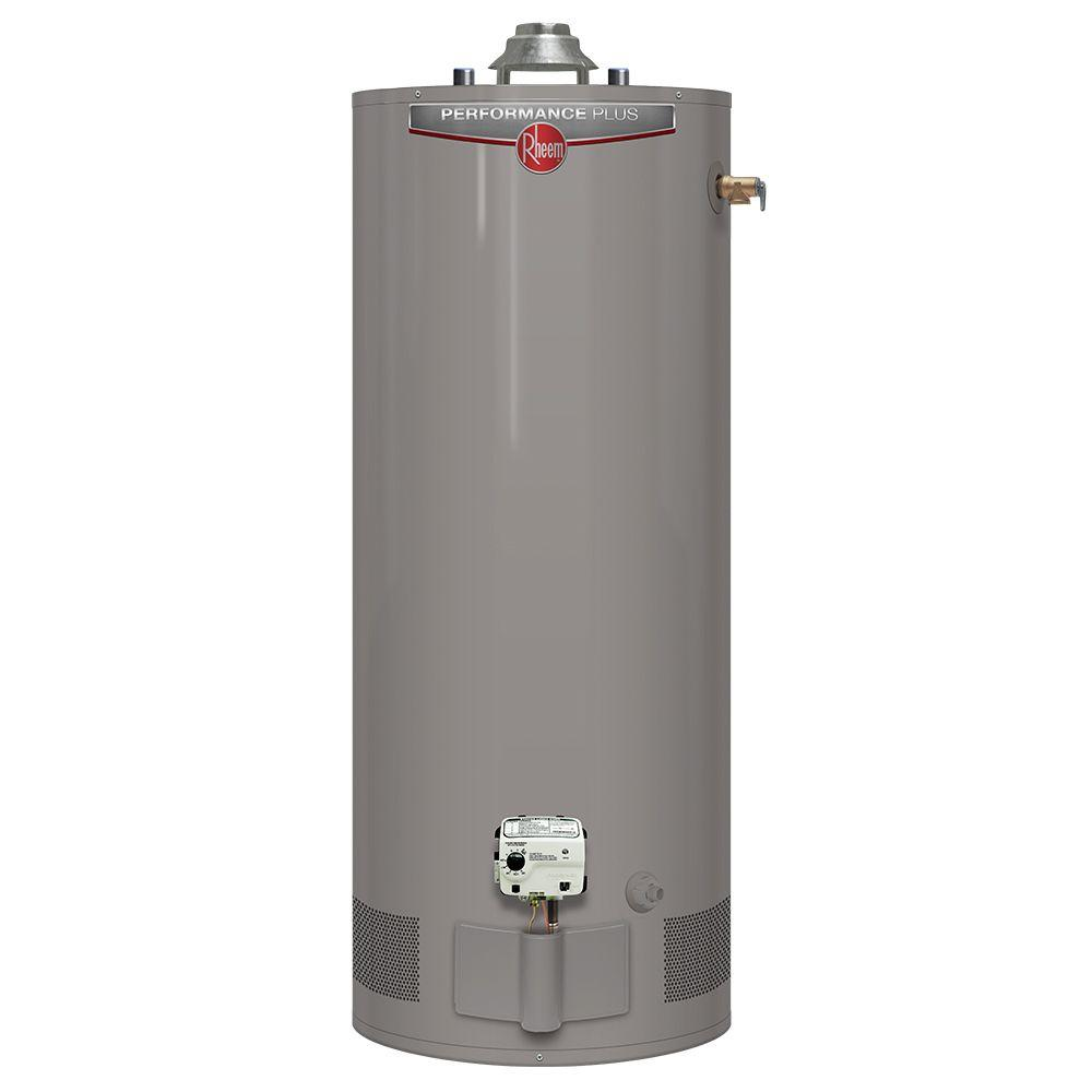 Rheem Hot Water Heaters >> Rheem Performance Plus 40 Gal. Short 9 Year 38,000 BTU High Efficiency Natural Gas Water Heater ...