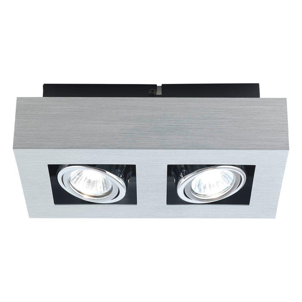 EGLO Loke 2-Light Brushed Aluminum Track Lighting