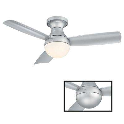 Aloft 44 in. LED Indoor/Outdoor Titanium 3-Blade Smart Flush Mount Ceiling Fan with 3000K Light Kit and Wall Control