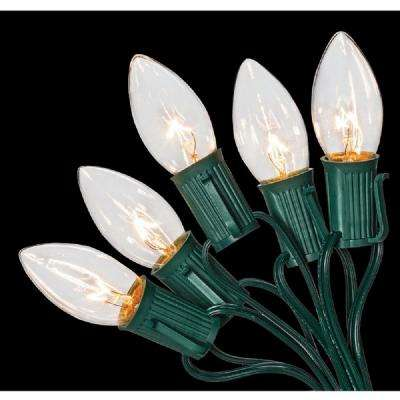 c9 25 light clear color incandescent light string