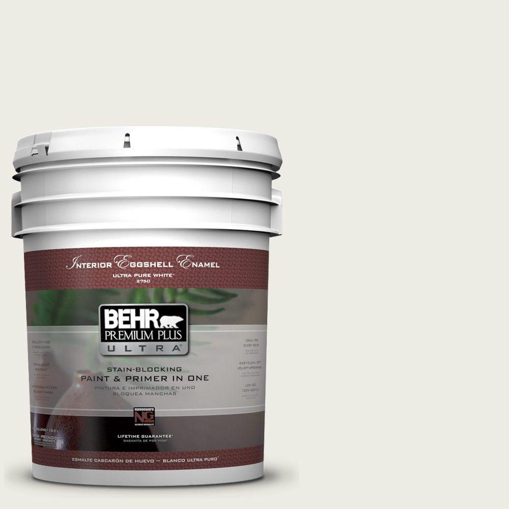 BEHR Premium Plus Ultra 5-gal. #ECC-63-2 Aspen Snow Eggshell Enamel Interior Paint