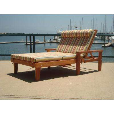 Wide Summer 1905 Super Deck Redwood Outdoor Chaise Lounge