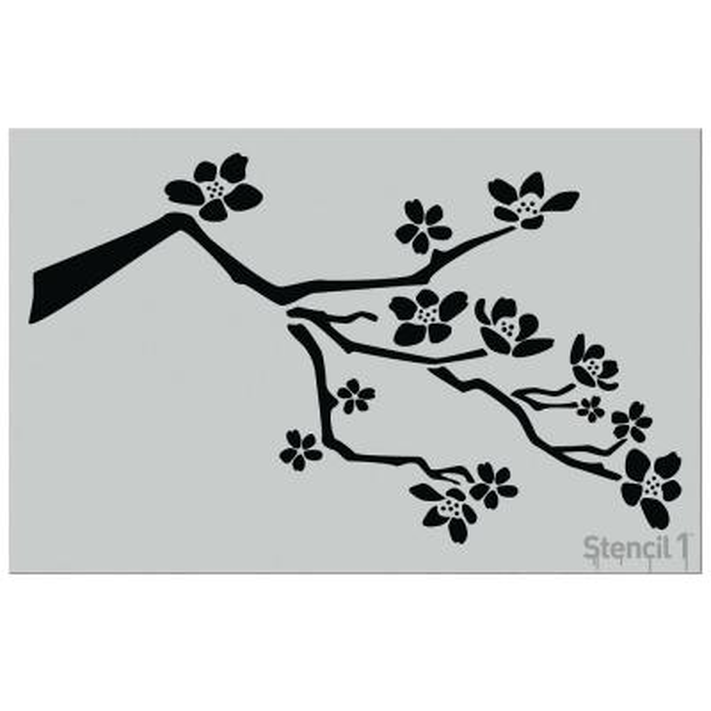 24 in. Cherry Blossom Branch Stencil
