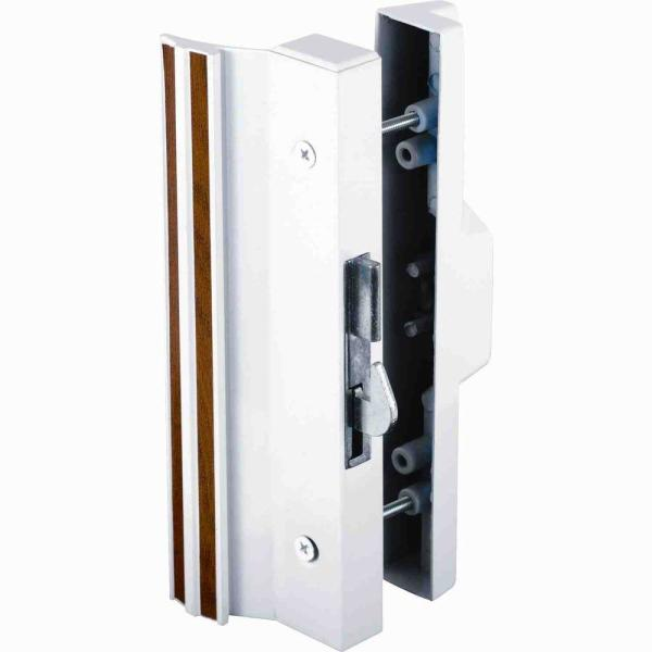 Extruded Aluminum, White, Surface Mount Handles with Anti-Lift Hook Latch