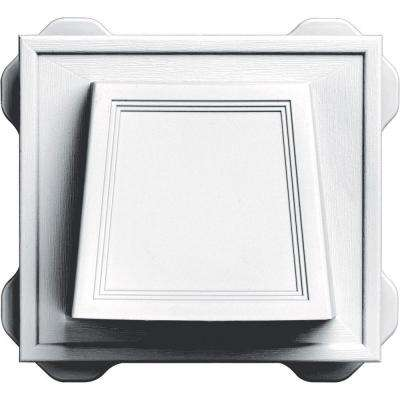 4 in. White Classic Hooded Vent