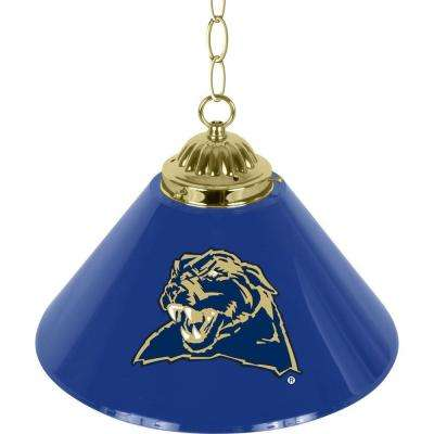University of Pittsburgh 14 in. Single Shade Stainless Steel Hanging Lamp