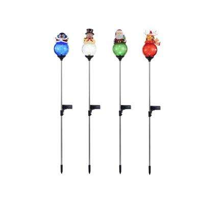 34 in. Christmas Solar Light Yard Stakes (1 of 4 Variations)