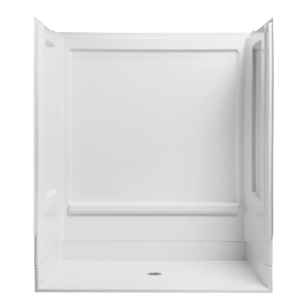 Attractive STERLING ADA Shower 39 3/8 In. X 631/4 In. X 73 1/4 In. 4 Piece Shower  Stall In White 62070106 0   The Home Depot
