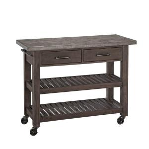 Home Styles Concrete Chic Brown Kitchen Cart With Concrete Top 5134 95    The Home Depot