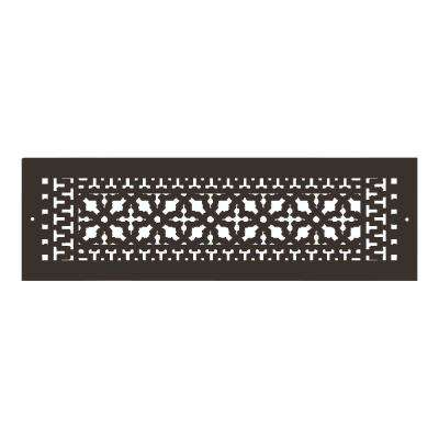Scroll Series 24 in. x 6 in. Aluminum Grille, Oil Rubbed Bronze with Mounting Holes
