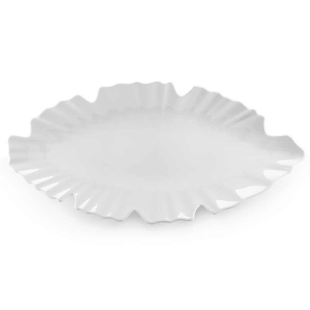 Zen 20.5 in. Melamine Serving Platter in White