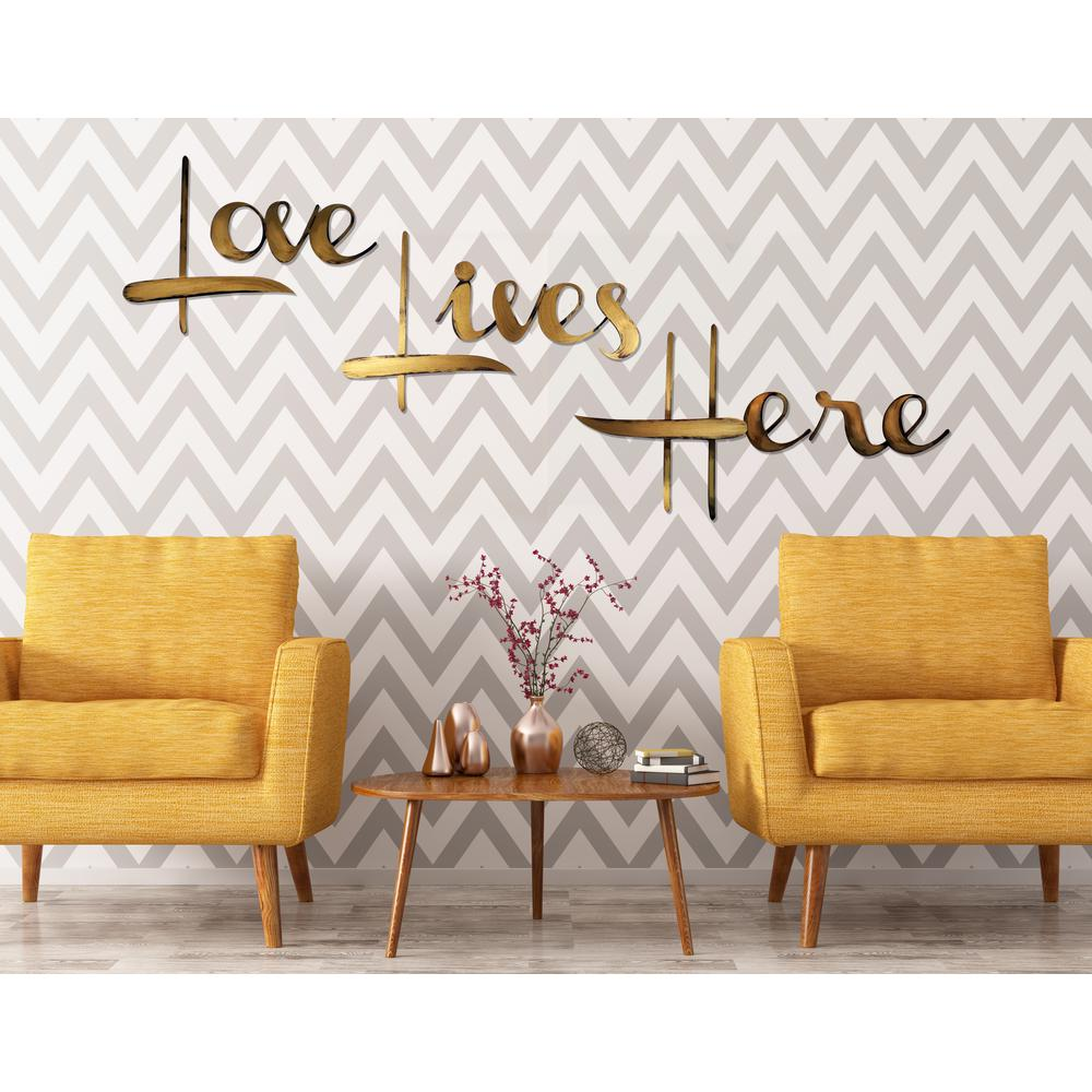 30 In H X 36 In W Love Lives Here Hand Painted Wall Words 2ch