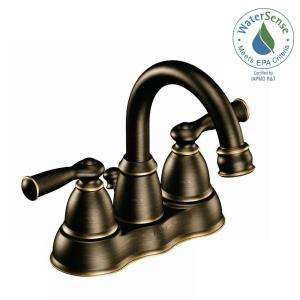 Bathroom Faucet Bronze delta porter 4 in. centerset 2-handle bathroom faucet in oil