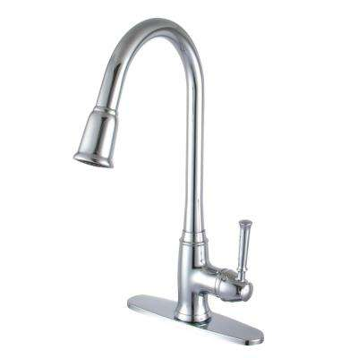 Madison Single-Handle Pull-Out Sprayer Kitchen Faucet in Polished Chrome