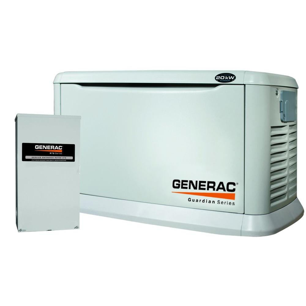 Generac 20,000-Watt Air Cooled Automatic Standby Generator with 200-Amp Service Entrance Rated-DISCONTINUED