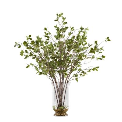 Indoor Budding Branches in Glass Hurricane Vase