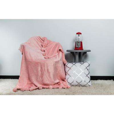 Zadie Pretty Pink Pom Pom Throw