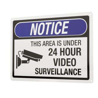 10 in. x 14 in. 24-Hour Video Surveillance Sign