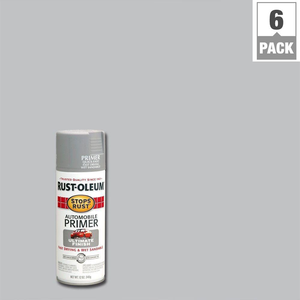Rust-Oleum Stops Rust 12 oz. Automotive Primer Spray Paint (6-Pack)