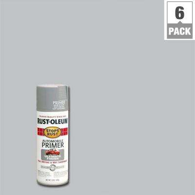 12 oz. Flat Light Gray Automotive Primer Spray (6-Pack)