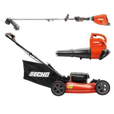 21 in. 58-Volt Lithium-Ion Cordless Mower/String Trimmer/Blower Combo Kit - Two 4.0 Ah Batteries and Charger Included