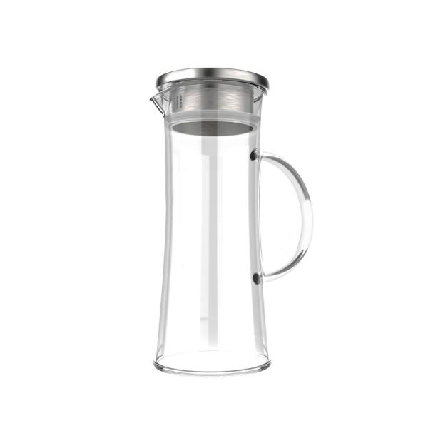 Classic Cuisine 50 oz. Glass Pitcher with Lid HW031070